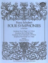 Four Symphonies - Conducteur SCHUBERT Partition laflutedepan.com