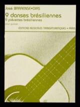 José Barrense-Dias - 9 Danses Brésiliennes - Guitare - Partition - di-arezzo.fr