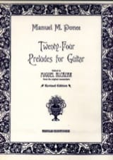 Manuel Maria Ponce - 24 Preludes for guitar - Sheet Music - di-arezzo.co.uk