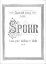 Louis Spohr - Duo pour violon et viola op. 13 - Partition - di-arezzo.fr