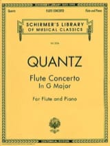 Johann Joachim Quantz - Concerto in G major - Flute piano - Partition - di-arezzo.fr