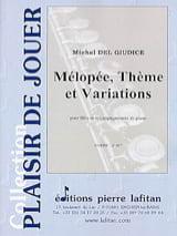Michel Delgiudice - Mélopée, Thème et Variations - Partition - di-arezzo.fr