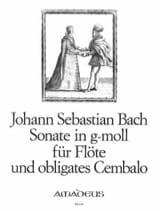 Sonate N° 7 en Sol Mineur BWV 1020 BACH Partition laflutedepan.com