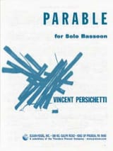 Parable for solo Bassoon Vincent Persichetti laflutedepan.com