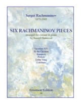 Six Rachmaninov Pieces RACHMANINOV Partition laflutedepan.com