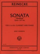 Carl Reinecke - Sonate Undine op. 167bis – Clarinet - Partition - di-arezzo.fr