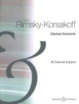Concerto Pour Clarinette - Nicolaï Rimsky-Korsakov - laflutedepan.com