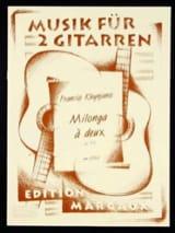 Milonga à deux op. 156 Francis Kleynjans Partition laflutedepan.com