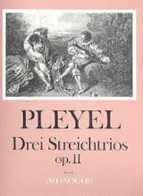 Ignaz Pleyel - 3 Streichtrios op. 11 -Stimmen - Partition - di-arezzo.fr