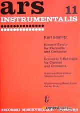 Carl Stamitz - Konzert Es-Dur – Klarinette Klavier - Partition - di-arezzo.fr