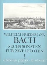Wilhelm Friedemann Bach - 6 Sonates Volume 1 - Partition - di-arezzo.fr
