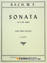 Wilhelm Friedemann Bach - Sonata E Flat Major - 2 Flutes - Sheet Music - di-arezzo.co.uk