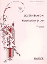 Joseph Haydn - Konzert D-Dur – Flöte Klavier - Partition - di-arezzo.fr
