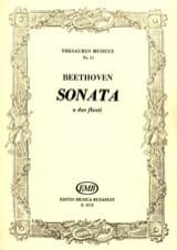 BEETHOVEN - Sonata - 2 flauti - Partition - di-arezzo.fr