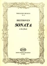 Sonata – 2 flauti BEETHOVEN Partition laflutedepan.com
