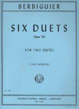 Benoît-Tranquille Berbiguier - 6 Duets op. 59 – 2 Flutes - Partition - di-arezzo.fr