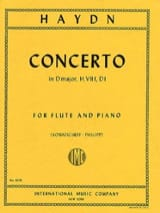 Concerto in D major Hob. 7 f, D1 - Flute piano laflutedepan.com