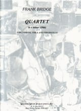 Quartet in e minor -Parts Frank Bridge Partition laflutedepan.com