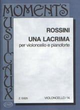 Una lacrima Gioacchino Rossini Partition laflutedepan.com