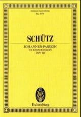 Johannes-Passion - Heinrich Schütz - Partition - laflutedepan.com