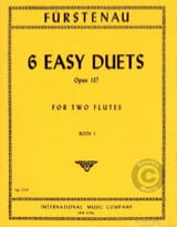 Anton Bernhard Fürstenau - 6 Easy duets, op. 137 (Volume 1) – 2 Flutes - Partition - di-arezzo.fr