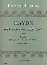 6 Duos concertants op. 101 Heft 1 - 2 Flöten HAYDN laflutedepan.com