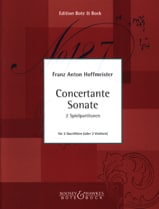 Franz Anton Hoffmeister - Concertante Sonate - 2 Flûtes Ou 2 Violons - Partition - di-arezzo.fr