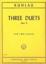 Friedrich Kuhlau - 3 Duets op. 10 - 2 Flutes - Partition - di-arezzo.fr