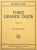 3 Grands Duos op. 39 – 2 Flûtes - Friedrich Kuhlau - laflutedepan.com
