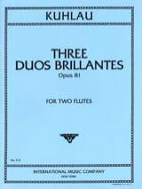 Friedrich Kuhlau - 3 Duos brillants op. 81 – 2 Flûtes - Partition - di-arezzo.fr