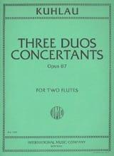 3 Duos concertants op. 87 - 2 Flutes Friedrich Kuhlau laflutedepan.com