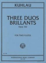 Friedrich Kuhlau - 3 Duos brillants op. 102 – 2 Flûtes - Partition - di-arezzo.fr