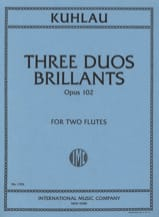 Friedrich Kuhlau - 3 brillante Duos op. 102 - 2 Flöten - Noten - di-arezzo.de