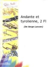 Andante et Tyrolienne - 2 Flûtes Serge Lancen laflutedepan.com