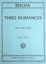 Anton Reicha - 3 Romances op. 21 - 2 Flûtes - Partition - di-arezzo.fr