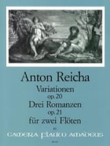 Anton Reicha - Variationen op. 20 - 3 Romanzen op. 21 – 2 Flöten - Partition - di-arezzo.fr