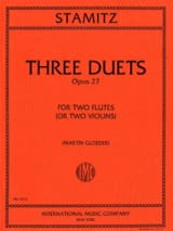 3 Duets op. 27 - 2 Flutes or violins STAMITZ Partition laflutedepan