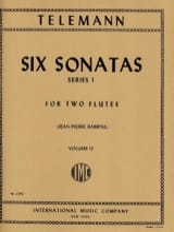 6 Sonatas Serie 1, Volume 2 - 2 Flutes TELEMANN laflutedepan.com