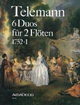 6 Duos 1752 . 1 - Flöten TELEMANN Partition laflutedepan.com