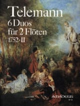 6 Duos 1752 . 2 - 2 Flöten TELEMANN Partition laflutedepan