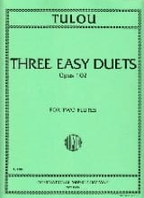 Jean-Louis Tulou - 3 Easy duets op. 102 - Partition - di-arezzo.fr