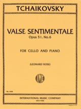 Piotr Illitch Tchaïkovski - Valse sentimentale op. 51 n° 6 - Partition - di-arezzo.fr