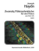 20 Flötenuhrstücke Aus Hob. 19 Heft 1 - 3 Flöten HAYDN laflutedepan