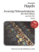 20 Flötenuhrstücke aus Hob. 19 (Heft 2) – 3 Flöten laflutedepan.com
