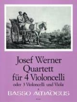 Quartett für 4 Violoncelli op. 6 Joseph Werner laflutedepan.com