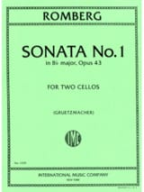 Bernhard Romberg - Sonate n° 1 in B Flat Major, op. 43 - Partition - di-arezzo.fr