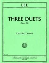 3 Duets op. 38 Sebastian Lee Partition Violoncelle - laflutedepan.com