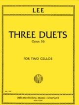 Sebastian Lee - 3 Duets op. 36 - Partition - di-arezzo.fr