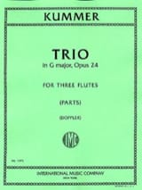 Gaspard Kummer - Trio op. 24 – 3 Flûtes - Partition - di-arezzo.fr