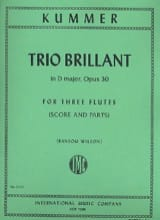 Gaspard Kummer - Trio Brillant in D major op. 30 - 3 Flutes Score - parts - Partition - di-arezzo.fr